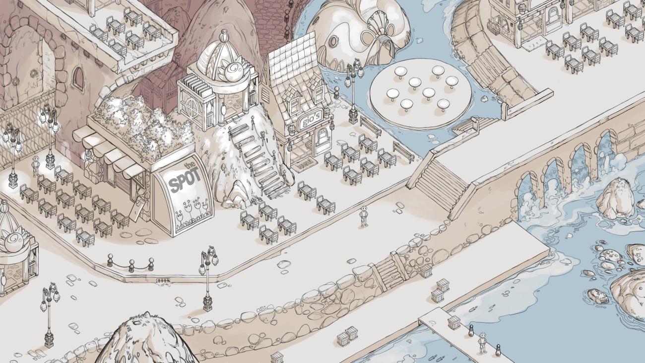 Restaurant Town Concept