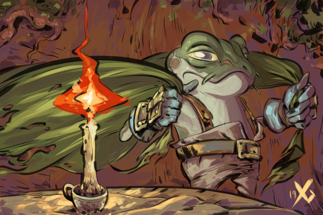 I love Frog, his demeanor, his reluctance to be a Hero yet hes constantly willing to fight on regardless of how tired he is or how hopeless he feels about himself